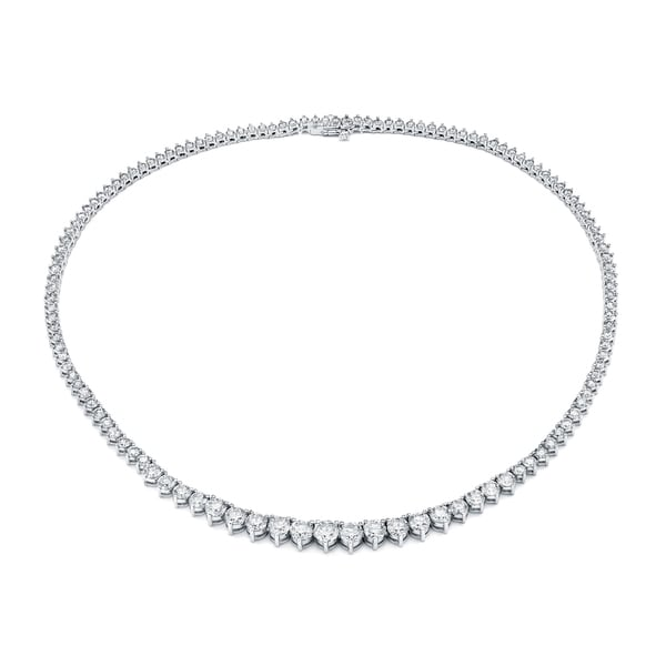 Auriya 14k Gold 10ct TDW Diamond Tennis Riviera Necklace