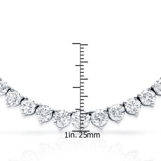 Auriya 14k Gold 10ct TDW Diamond Tennis Riviera Necklace (G-H, I1-I2)