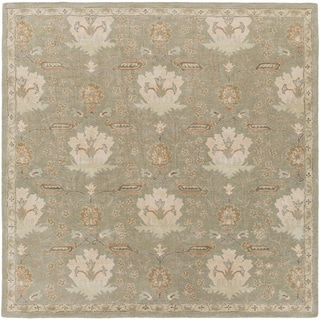 Hand-Tufted Widnes Floral Wool Rug (4' Square)