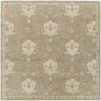 Copper Grove Kavir Hand-Tufted Floral Wool Area Rug - 4' Square