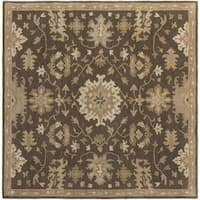 Copper Grove Kavir Hand-Tufted Floral Wool Area Rug (4' Square)