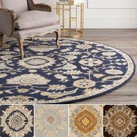 Hand-Tufted Wigton Floral Wool Area Rug - 4' x 4'