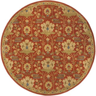 Hand-Tufted Widnes Floral Wool Rug (4' Round)