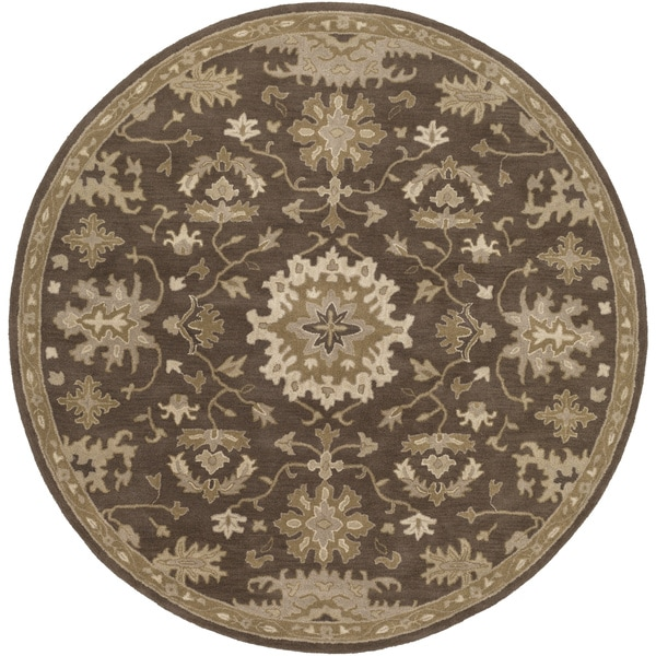 Copper Grove Kavir Hand-Tufted Floral Wool Area Rug (4' Round)