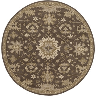 Hand-Tufted Tipton Floral Wool Rug (4' Round)