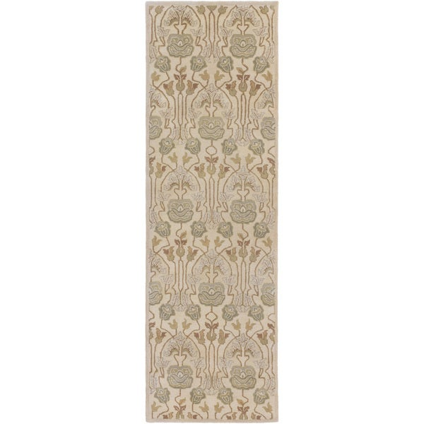 Hand-Tufted Mindy Floral New Zealand Wool Rug (2'6 x 8')