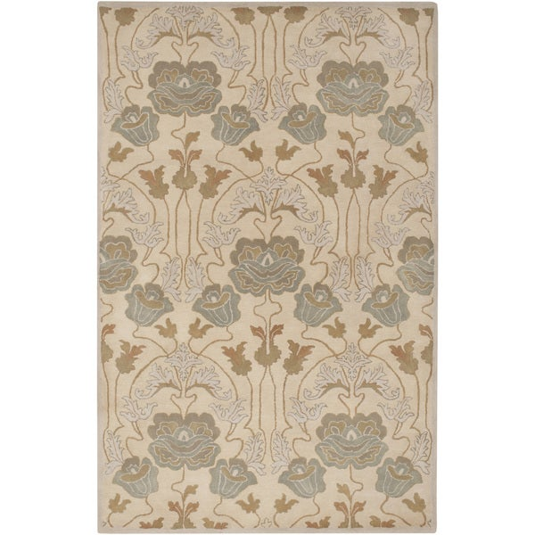 Hand-Tufted Mindy Floral New Zealand Wool Area Rug (3'6 x 5'6)