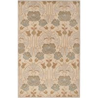Hand-Tufted Mindy Floral New Zealand Wool Area Rug - 3'6 x 5'6