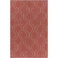 Hand-Stitched Jaelyn Moroccan Trellis Wool Area Rug - 8' x 10'