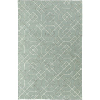 Hand-Stitched Javier Geometric Wool Rug (8' x 10')