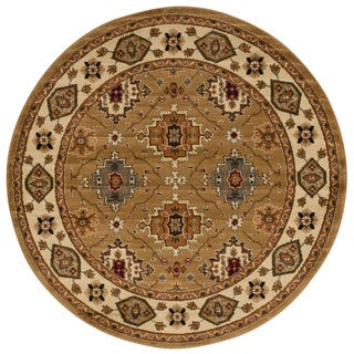 Rug Squared Mariposa Gold Round Rug (5'3 x 5'3)