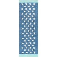 Hand-Woven Julio Geometric PVC Area Rug (2'6 x 8')