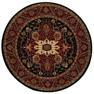 Rug Squared Mariposa Black Round Rug (5'3 x 5'3)