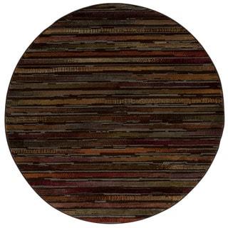 Rug Squared Mariposa Multicolor Round Rug (5'3 x 5'3)