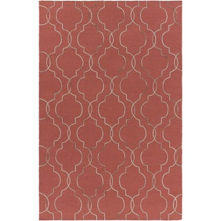 Hand-Woven Jaelyn Geometric Pattern Wool Rug (9' x 13')