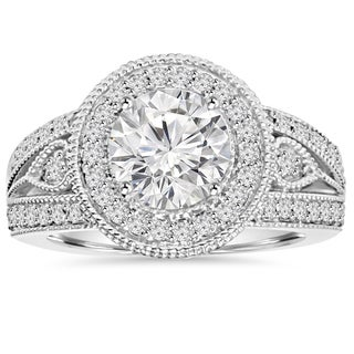 14k White Gold 2 3/4ct TDW Clarity Enhanced Diamond Engagement Ring (H-I, I1-I2)