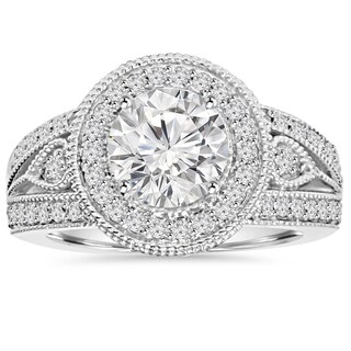 14k White Gold 2 3/4ct TDW Clarity Enhanced Diamond Engagement Ring