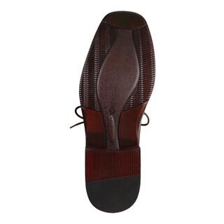 Boston Traveler Men's Faux Leather Square Toe Dress Shoes