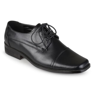 Boston Traveler Men's Faux Leather Square Toe Dress Shoes