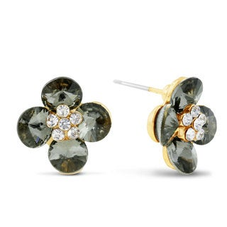 Blooming Flower Stud Earrings, Pushbacks