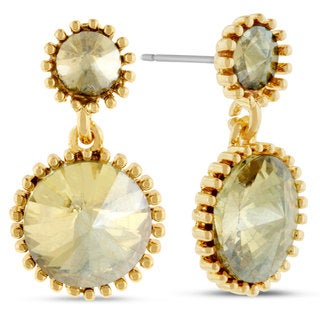 Yellow Starburst Dangle Earrings, Pushbacks