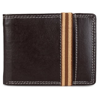 Vance Co. Men's Handcrafted Genuine Leather Bi-fold Wallet