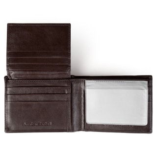 Vance Co. Men's Handcrafted Genuine Leather Bi-fold Wallet