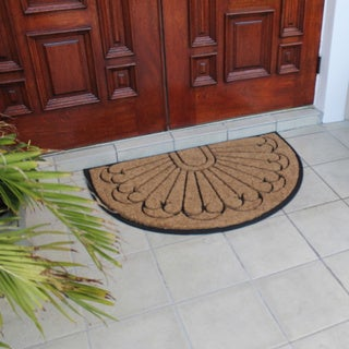 First Impression Rubber and Coir Half Moon Double Doormat