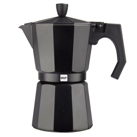Magefesa Kenia Aluminum Black Espresso Maker (3 Sizes)
