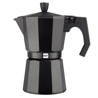 Magefesa Kenia Aluminum Black Espresso Maker (3 sizes available)