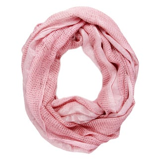 Saachi Women's Woven Metallic Infinity Scarf (China)