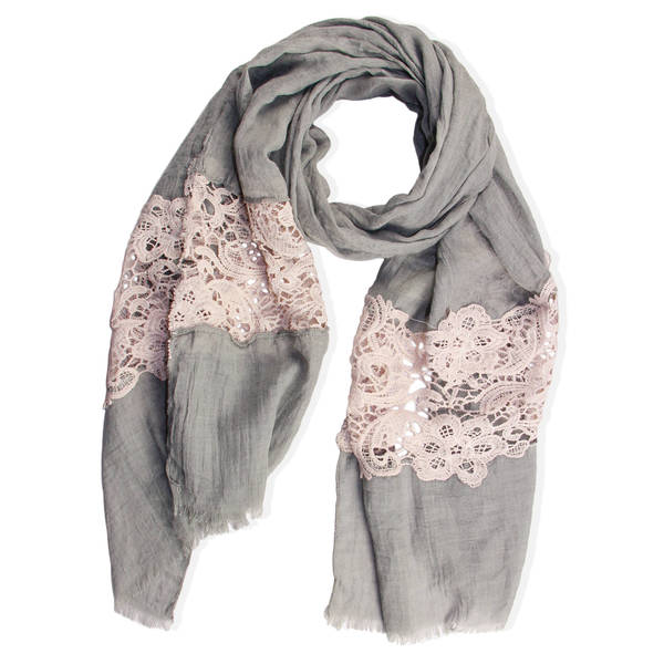 Handmade Saachi Women's Floral Lace Scarf (China)