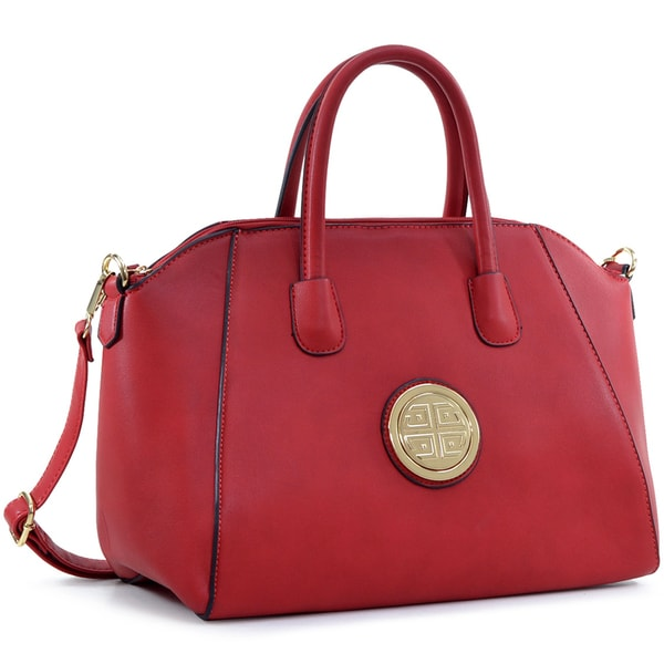 Dasein Faux Leather Weekender Satchel with Removable Strap. Opens flyout.