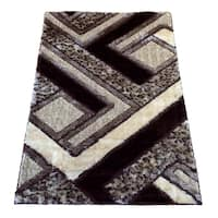 LYKE Home Extra Plush Brown Area Rug - 5'3 x 7'3