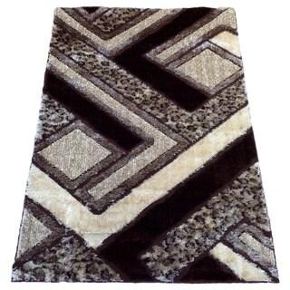 Lyke Home Rya Extra Plush Brown Area Rug (8' x 11')