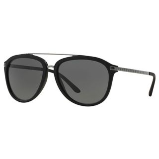 Versace Men's VE4299 514187 Black Plastic Pilot Sunglasses