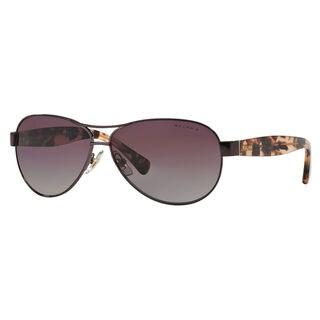 Ralph by Ralph Lauren Women's RA4096 Metal Pilot Polarized Sunglasses