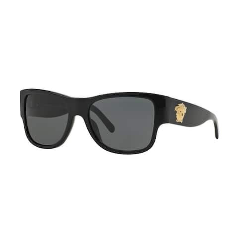 Versace Men's VE4275 Plastic Square Sunglasses - Black