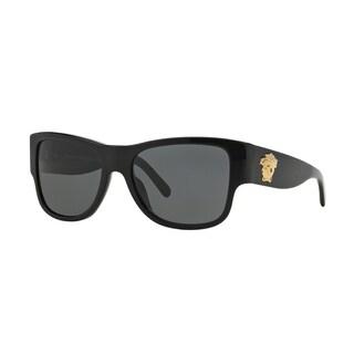 Versace Men's VE4275 Plastic Square Sunglasses