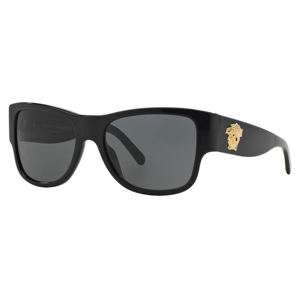 dc71a3ae66f Shop Versace Men s VE4275 Plastic Square Sunglasses - Black - Free ...