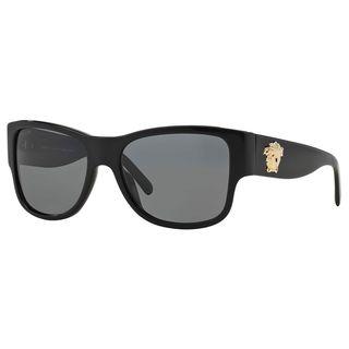 Versace Men's VE4275 Plastic Square Polarized Sunglasses