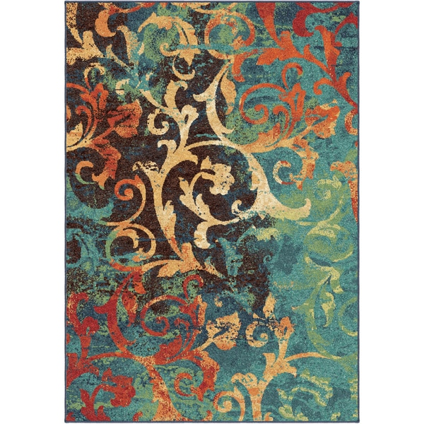 Carolina Weavers Brighton Collection Painting On The Wall Multi Area Rug 7 10 X Free Shipping Today Com 17547508