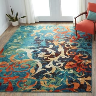 Carolina Weavers Brighton Collection Painting on the Wall Multi Area Rug (7'10 x 10'10)|https://ak1.ostkcdn.com/images/products/10455070/P17547508.jpg?impolicy=medium