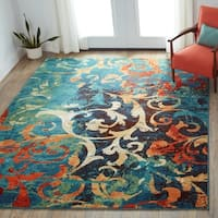 Carolina Weavers Brighton Collection Painting on the Wall Multi Area Rug (7'10 x 10'10)