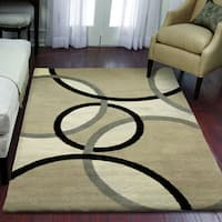 "Carolina Weavers Eden Collection Orbs Beige Area Rug - 6'8"" x 10'"