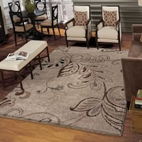 Carolina Weavers Grand Comfort Collection Oatmeal Beige Shag Area Rug - 7'10 x 10'10