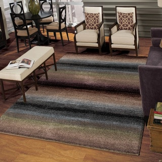 Carolina Weavers Comfy and Cozy Grand Comfort Collection Tie-in Multi Shag Area Rug (7'10 x 10'10)