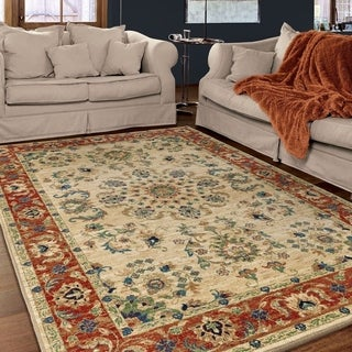 Carolina Weavers Celebration Collection Oriental Passage Ivory Area Rug (7'10 x 10'10)
