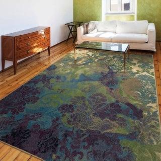 Carolina Weavers Celebration Collection Twisted Garden Green Area Rug (7'10 x 10'10)