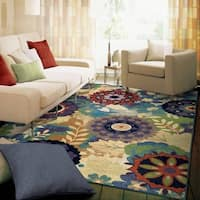 Carolina Weavers Celebration Collection Floral Ecstasy Multi Area Rug (7'10 x 10'10)